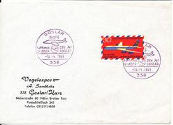 Germany Cover Goslar Taufe Lufthansa City Jet D-Aber - Goslar 14-5-1969 Single Franked - [7] Federal Republic