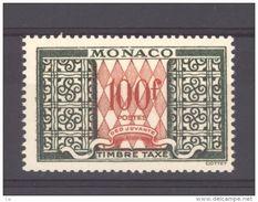 Monaco - Taxe : Yv 39 **sans Charniere Val 16€ Je Liquide Mes Doubles - Impuesto