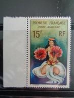 POLYNESIE 1964 P.A. Y&T N° 7 ** - DANSEUSE TAHITIENNE - Neufs