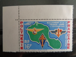 POLYNESIE 1964 P.A. Y&T N° 8 ** - 24e ANNIV. DU RALLIEMENT A LA FRANCE LIBRE - Neufs