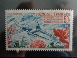 POLYNESIE 1965 P.A. Y&T N° 14 ** - CHAMPIONNATS DU MONDE DE CHASSE SOUS MARINE A TUAMOTU - French Polynesia