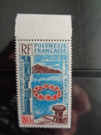POLYNESIE 1965 P.A. Y&T N° 15 ** - OEUVRES DES CANTINES SCOLAIRES - Neufs