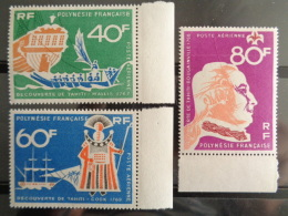 POLYNESIE 1968 P.A. Y&T N° 22 à 24 ** - BICENTENAIRE DE LA DECOUVERTE DE TAHITI - Französisch-Polynesien