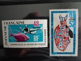 POLYNESIE 1969 P.A. Y&T N° 29 & 30 ** - CHAMPIONNATS DU MONDE DE CHASSE SOUS MARINE A PAPEETE - Polynésie Française