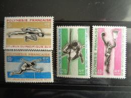 POLYNESIE 1966 Y&T N° 42 à 45 ** - 2e JEUX DU PACIFIQUE SUD A NOUMEA - Polinesia Francesa