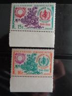 POLYNESIE 1968 Y&T N° 60 & 61 ** - 20e ANNIV. DE L' O.M.S. - Französisch-Polynesien