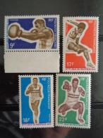 POLYNESIE 1969 Y&T N° 66 à 69 ** - 3e JEUX SPORTIFS DU PACIFIQUE SUD A PORT MORESBY - Polinesia Francesa