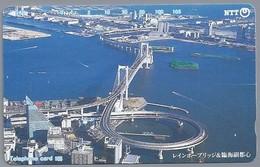 JP.- Japan, Telefoonkaart. Telecarte Japon. NTT. TELEPHONE CARD 105. BRUG - Telefoonkaarten