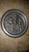Armure De Chevalier Blason Aigle - Assiette Collection ETAIN - GILDE ZINN 95% - Allemagne Germany 430g - 20cm - Etains