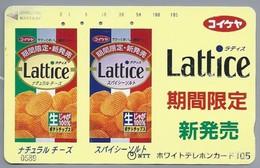 JP.- Japan, Telefoonkaart. Telecarte Japon. NTT. LATTICE. - Reclame