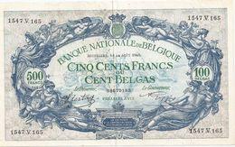 500 Fr - 14.08.43 - [ 2] 1831-... : Belgian Kingdom