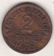 Montenegro . 2 Pare 1913 . Nicholas I . Sup . KM# 17 - Yougoslavie