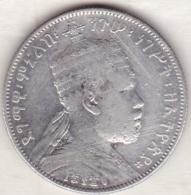 ETHIOPIE . 1/2 BIRR EE 1889 A (1897) . MENELIK II . ARGENT - Ethiopie