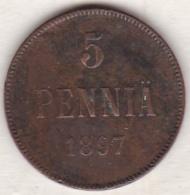 Finlande . 5 Pennia 1897 . Nicholas II - Finland