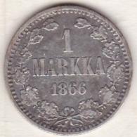 Finlande . 1 Markka 1866 S . Alexandre II . Argent - Finland