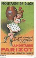 CPA  Publicité. Moutarde De Dijon PARIZOT.  Illustrateur POULBOT. ..I201 - Advertising
