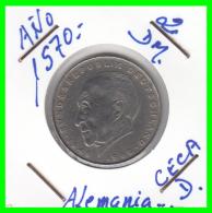 ALEMANIA  - GERMANY -  MONEDA DE 2.00 DM.  AÑO 1970-D  Konrad Adenauer - [ 7] 1949-… : RFA - Rep. Fed. Alemana