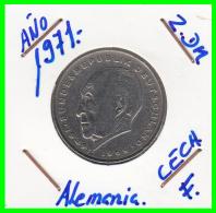 ALEMANIA  - GERMANY -  MONEDA DE 2.00 DM.  AÑO 1971-F Konrad Adenauer - [ 7] 1949-… : RFA - Rep. Fed. Alemana