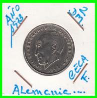 ALEMANIA  - GERMANY -  MONEDA DE 2.00 DM.  AÑO 1973-F Konrad Adenauer - [ 7] 1949-… : RFA - Rep. Fed. Alemana