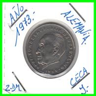 ALEMANIA  - GERMANY -  MONEDA DE 2.00 DM.  AÑO 1973-J Konrad Adenauer - [ 7] 1949-… : RFA - Rep. Fed. Alemana