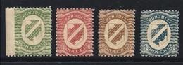 FINLANDIA - INGRIA - 1920 - STEMMA -  N. 1 / 4 Nuovi * , Serietta Con Varietà - Cat. 40,00 € - (2 Foto) Lotto N. 15 - Finland