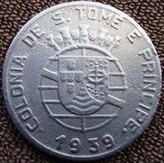 São Tomé E Principe - 1 Escudo - 1939 - KM 4 - São Tomé Und Príncipe