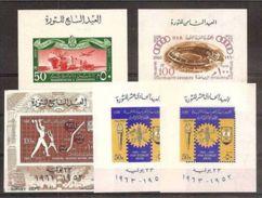 1959 1963 Egitto Egypt UAR 5 FOGLIETTI: N° 10, 11, 12, 14, 14A  MNH** 5 Souv. Sheets - Blocchi & Foglietti