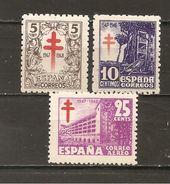 España/Spain-(MH/*) - Edifil  1017-19 - Yvert 762-63, Aéreo 237A - 1931-50 Nuovi