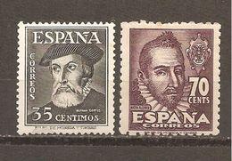 España/Spain-(MH/*) - Edifil  1035-36 - Yvert 777-78 - 1931-50 Nuevos & Fijasellos