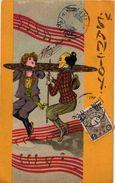 Postcard Illustrator Kirchner PUB For Operetta Santoy Chinese Music Chinese Post Stamp Ed. Kingshill  Berlin Shangai - Kirchner, Raphael
