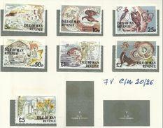 1976 Isola Di Man PITTORICA FRANCOBOLLI USO FISCALE, DEFINITIVA  Serie Di 7v. (20 - 26) MNH** - Isola Di Man
