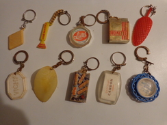 10 Porte Clef Mousse D'or Rouger -carambar-lutti-reinette-sucette-vichy-chips-mylord-cardon-moritz Strasbourg - Porte-clefs