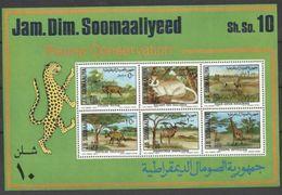 1977 Somalia PROTEZIONE FAUNA Foglietto Di 6v. (3) MNH** Souv. Sheet - Somalia (1960-...)