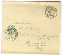 G367 Ganzsache Streifband 1903 Schweiz S 17  Genf N. Bayern Fremdentwertung Seltener Stempel K1 Maikammer Kirrweiler - Stamped Stationery