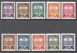 Inde: Yvert N° Taxe 19/28**; MNH; Cote 15.00€ - India (1892-1954)