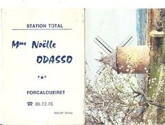 1982   STATION TOTAL -Mme NOELLE ODASSO - FORCALQUEIRET   VAR   EN 2 VOLETS  11X7,5cm - Calendriers
