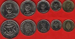 Brunei Set Of 5 Coins: 1 - 50 Sen 2008-2013 UNC - Brunei