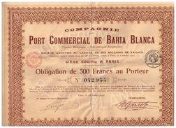 Obligation Ancienne - Compagnie Du Port Commercial De Bahia Blanca - Argentine - Titre De 1921 - A - C