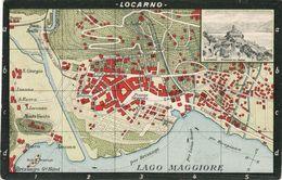 Locarno - Carte De La Ville / Map - TI Tessin