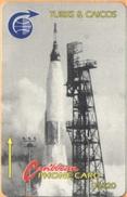 Turks & Caicos - GPT, MV :T&C-1CA, Nasa Rocket, 5000ex, 1992, Used - Turks And Caicos Islands