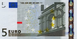 EURO GERMANY 5 X R002 UNC TRICHET - EURO