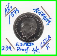 ALEMANIA - GERMANY  MONEDA DE 2.00 DM. AÑO 1974-F CALIDAD PROOF S/C  KONRAD ADENAUER - [ 7] 1949-… : RFA - Rep. Fed. Alemana