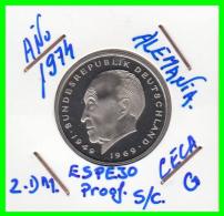 ALEMANIA - GERMANY  MONEDA DE 2.00 DM. AÑO 1974-G CALIDAD PROOF S/C  KONRAD ADENAUER - [ 7] 1949-… : RFA - Rep. Fed. Alemana