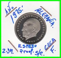 ALEMANIA - GERMANY  MONEDA DE 2.00 DM. AÑO 1975-F CALIDAD PROOF S/C  KONRAD ADENAUER - [ 7] 1949-… : RFA - Rep. Fed. Alemana