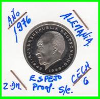 ALEMANIA - GERMANY  MONEDA DE 2.00 DM. AÑO 1976-G  CALIDAD  PROOF S/C  KONRAD ADENAUER - [ 7] 1949-… : RFA - Rep. Fed. Alemana