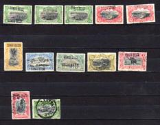 1909    Mols,  Surcharge Main,  Entre 30L Et 39L, Cote 245 €,  Principalement En Oblitéré - Belgisch-Kongo