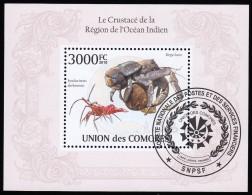 COMORO ISLANDS - SW2656 Rhynchocinetes Durbanensis, Birgus Latro / Mint NH Souvenir Sheet (ss347) - Comoros
