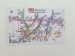 MEXICO - METRO - RECHARGEABLE CARD - MAP - Season Ticket