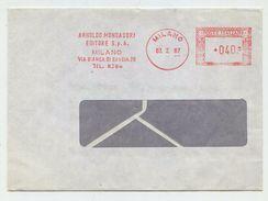 ARNOLDO MONDADORI EDITORE (Milano) - 1967 - Affrancatura Meccanica Rossa (EMA) - Machine Stamps (ATM)