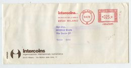 INTERCOINS (Numismatica Milano) - 1974 - Affrancatura Meccanica Rossa (EMA) - Affrancature Meccaniche Rosse (EMA)